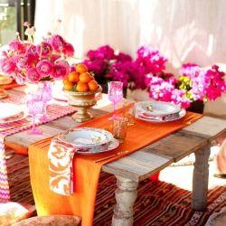 Prestieranie na stôl s kvetmi
