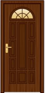 Bezpečnostné dvere so sklom